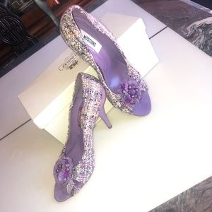HP💜💜MOSCHINO Lilac Tweed Pumps🌟🌟